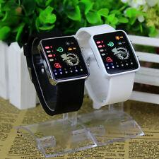 Anime Detective Conan LED Electronic Watch Glass Binary Wristwatch Date&Time New