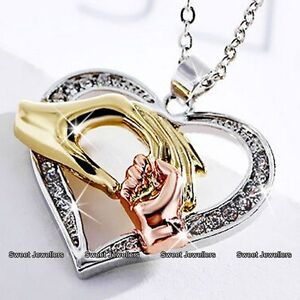 MOTHERS DAY  Mother amp Daughter Heart Necklace Love Hand Mum Mom Gifts For Her - <span itemprop='availableAtOrFrom'>Wembley, Middlesex, United Kingdom</span> - Returns accepted - <span itemprop='availableAtOrFrom'>Wembley, Middlesex, United Kingdom</span>