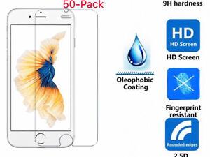 50x Wholesale Lot Premium 9H Tempered Glass For iPhone X 8 /7 / 7 Plus & 6 / 6 P