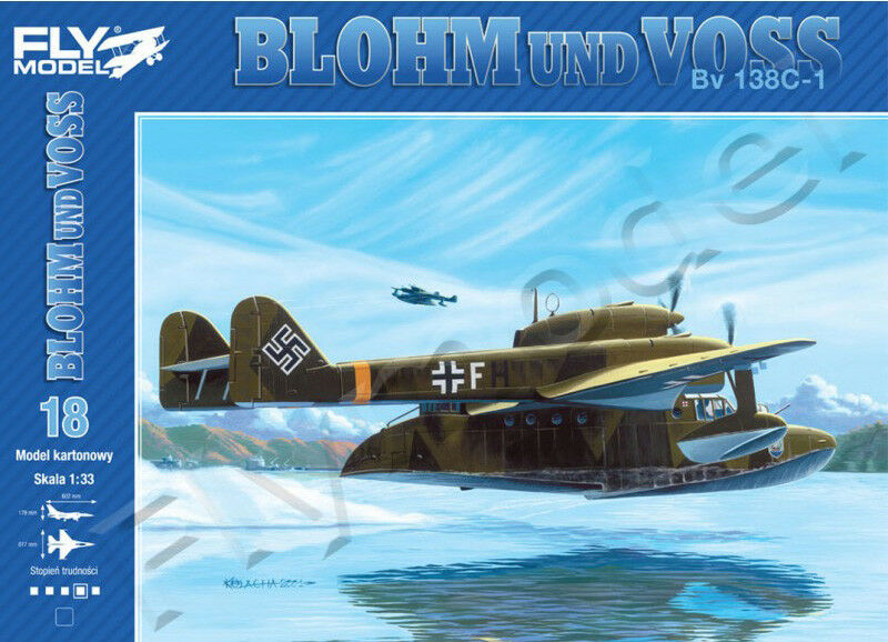 Fly Model 018 Blohm und Voss Bv138C-1 Paper Card Model Scale 1 33