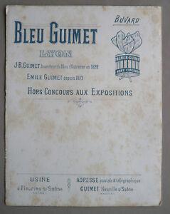 Grand buvard BLEU GUIMET- Lyon - Inventeur du Bleu d'Outremer en 1826 v1mKvFli-09115345-465551751