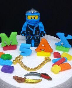 Remarkable Jay Lego Ninjago Edible Handmade Personalised Birthday Cake Topper Funny Birthday Cards Online Alyptdamsfinfo