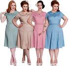 New Hell Bunny Ingrid Dress Polka 40s 50s Landgirl WW2 Retro Vintage Tea Party