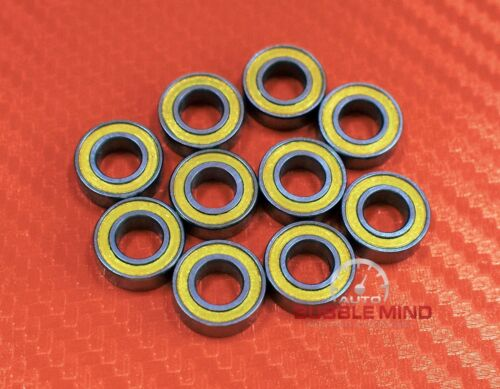 YELLOW Rubber Ball Bearing Bearings 8*14*4 MR148-2RS MR148RS 5 PCS 8x14x4 mm