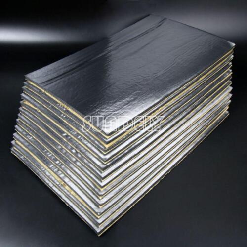 12 Sheets 10mm Car Vehicle Glass Fibre Foam Soundproofing Deadening Insulation