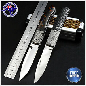 Classic-Folding-Knife-Survival-Outdoor-Camping-Hunting-Pocket-AU-STOCK