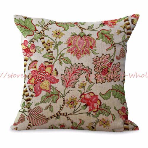 US Vendeur-Lot de 2 canapé Taies D/'oreiller Rétro Floral Housse De Coussin