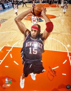 timeless design 6bafc 7fd6a Details about VINCE CARTER AUTOGRAPHED 16x20 COLOUR DUNK PHOTO SIGNED COA  NEW JERSEY NETS NBA