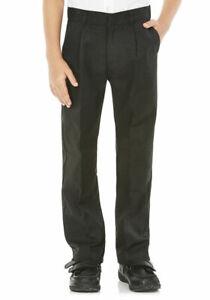 Boys-School-Pantalon-gris-anthracite-et-noir-3-4-ans-jusqu-039-a-14-ans
