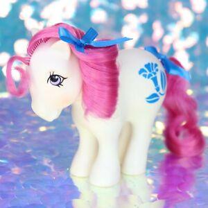 Vintage-My-Little-Pony-MORNING-GLORY-September-Birthflower-Pink-G1-MLP-BE449