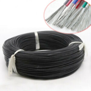 Silicone Cable Flexible Wire 14-28 30AWG Copper Tinned HIGH TEMP UL3239 Black