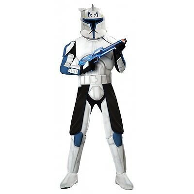Deluxe Clone Trooper Captain Rex Costume Star Wars Adult Mens Halloween
