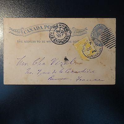 Treu Kanada Brief Cover Ganze Post Cad Montreal 1889 Mit Den Modernsten GeräTen Und Techniken Kanada Nordamerika