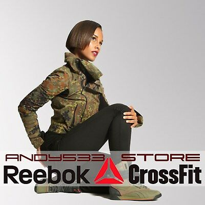 $300 Reebok Womens ALICIA KEYS Camo Jacket Coat Antiqrust Military Cargo Top 2XS
