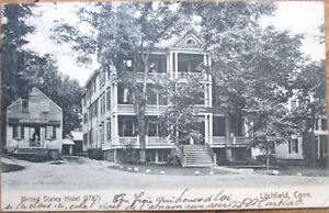 Image Is Loading 1906 Litchfield Ct Postcard United States Hotel Connecticut