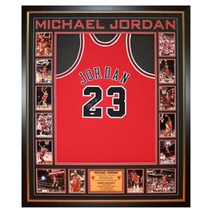 premium selection 16232 12ced Details about Hand Signed Michael Jordan Bulls Authentic Framed Jersey