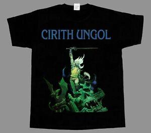 CIRITH-UNGOL-FROST-AND-FIRE-039-80-NEU-Kurzarm-Langarm-Armelart-Schwarz-T-SHIRT