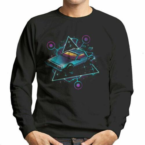 Back To The Future DeLorean Retro Wave Men/'s Sweatshirt