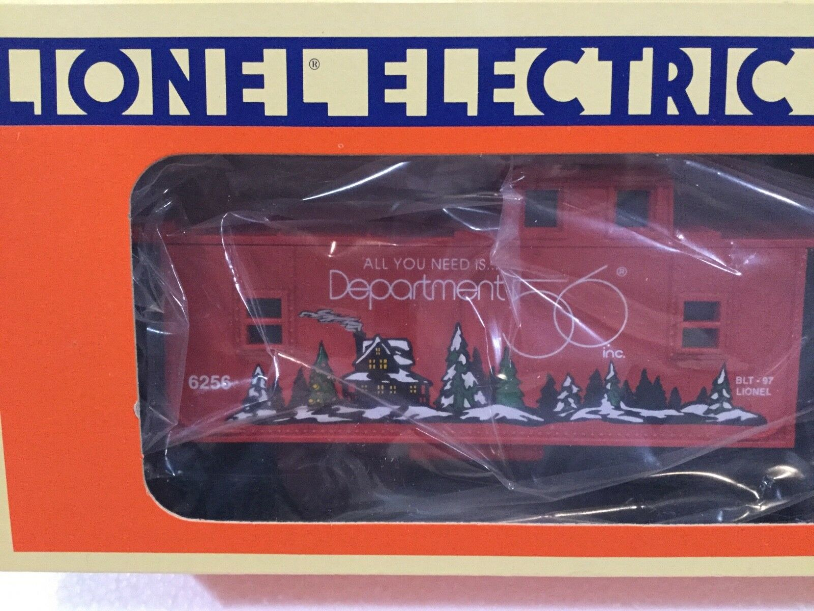 Lionel® Allied Model Trains Dept 56® CABOOSE - Interior Illuminates - BRAND NEW