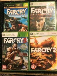 4 Xbox 360 Games Farcry Instincts Predator Far Cry 2 3 All Pal Ebay
