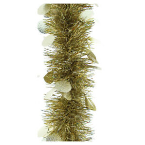 Details About Festive 200cm Chunky Tinsel Christmas Garland Silver Gold Artificial Tree Luxury