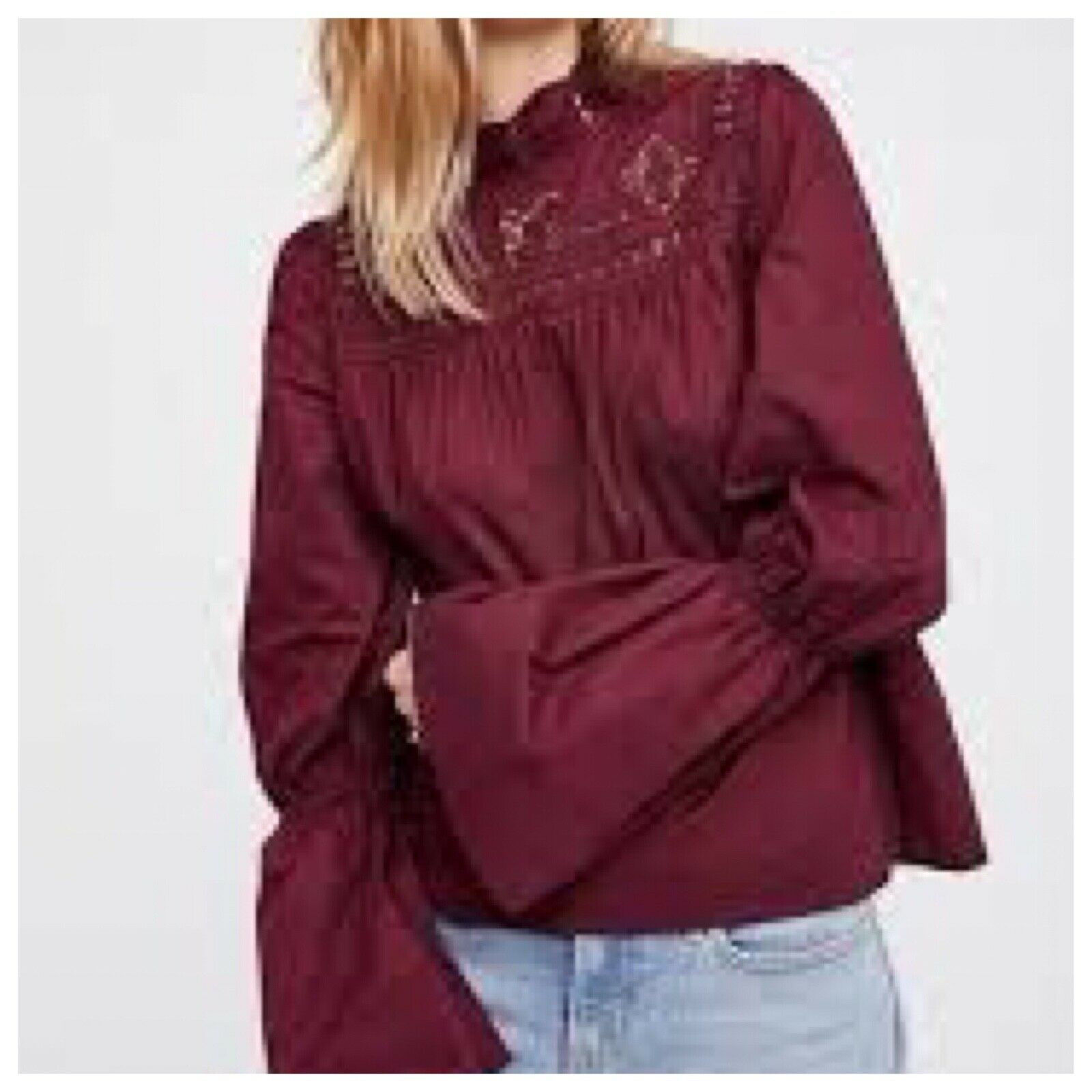 Free People embroidered blouse, size L