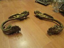 ancienne paire embrasses de rideau en bronze doré epoque 1900 style louis XV
