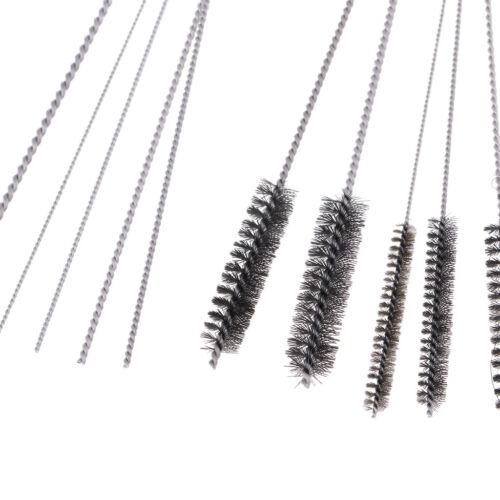 11pcs Airbrush Spritzpistole Reinigung Repair Tool Kit Stahl Nadel /& Pinsel Set