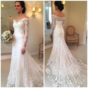 Lace-Vestido-de-Novia-Wedding-Dress-Off-Shoulder-Mermaid-Bridal-Gown-with-Sleeve
