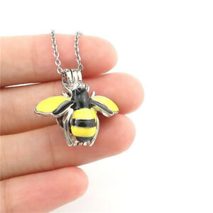 K1053-Yellow-Enamel-Bee-Beads-Cage-Locket-Aroma-Diffuser-Necklace-18-034