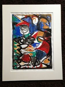 Original-abstract-painting-watercolour-signed-and-dated-by-artist-1991