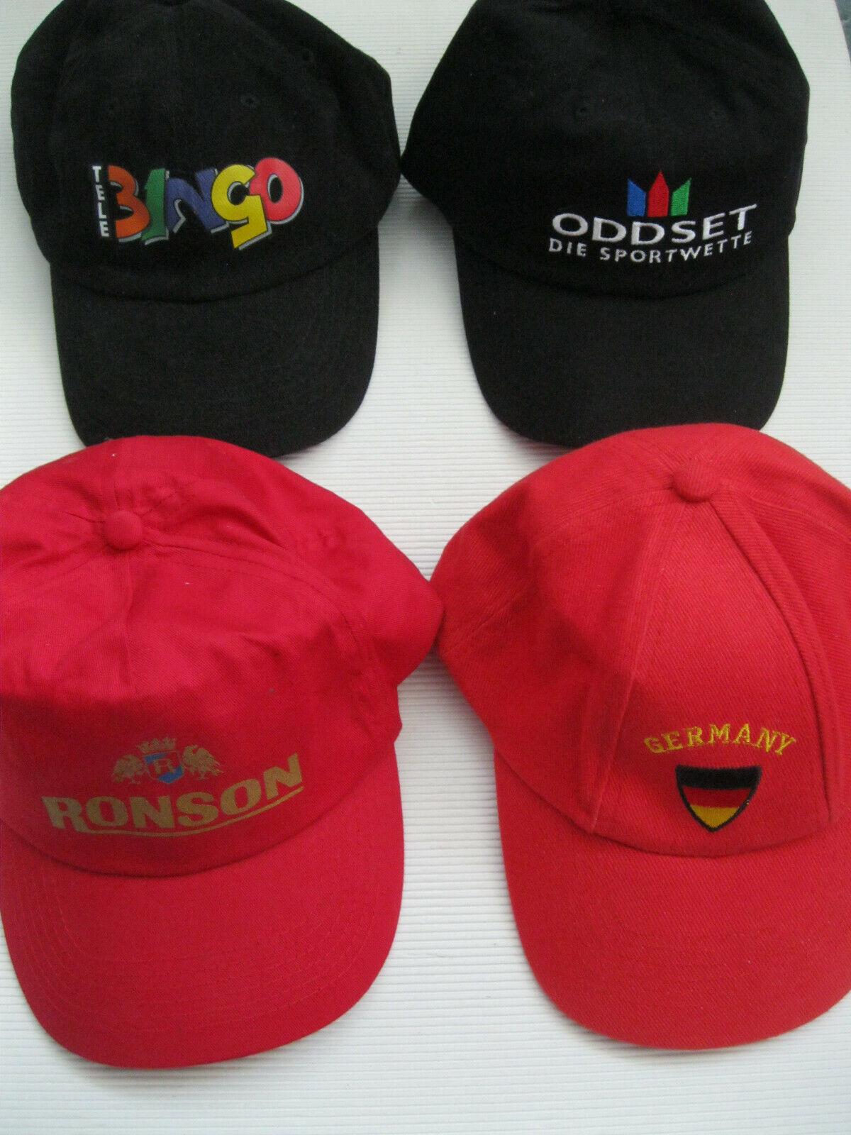 4 Basecap mit Reklame Werbung ODDSET BINGO RONSON Fussball WM 2006 neu unbenutzt