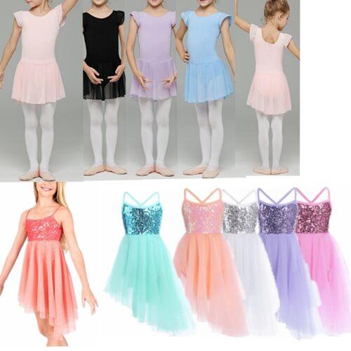 Toddler Girl Kid Gymnastics Xmas Latin Leotard Ballet Tutu Skirt Dancewear Dress