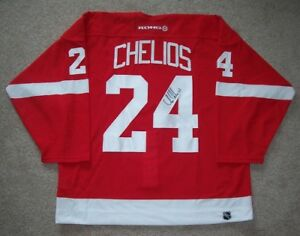 Image is loading CHRIS-CHELIOS-Signed-DETROIT-RED-WINGS-Jersey-w- 549087fdd