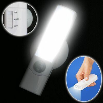 Sinnvoll Led Nacht- & Notlicht + Taschenlampe + Wandhalterung Batteriebetrieb Lichtsensor