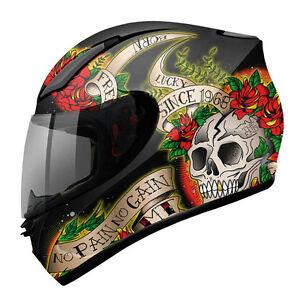 Casco-de-moto-integral-MT-Revenge-Skull-amp-Rose-BR