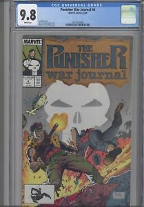 Punisher-War-Journal-4-CGC-9-8-1989-Marvel-Jim-Lee-Comic-New-Frame