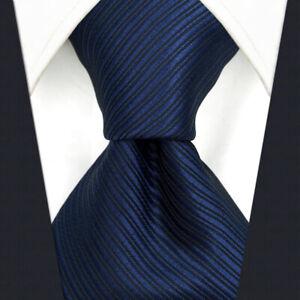 S&W SHLAX&WING Tie Mens Neckties Solid Blue Navy for Suit Silk | eBay