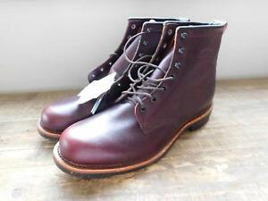 For Bordeaux Leather crew Collab Chippewa Plain Boots J 8275 Toe QCerBoEdxW