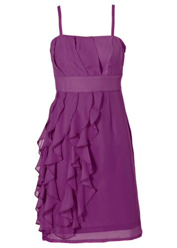 Ravissante robe de cocktail avec volants dans veilchenlila-Taille 40-q3209-949240