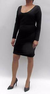 New-Club-Party-Daring-Short-Scoop-Neck-Pencil-Black-Micro-Mini-Dress