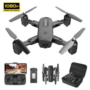 Holy Stone Hs350 Fpv Drone 1080p Hd Camera Foldable Rc Quadcopter Tapfly Selfie Ebay