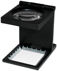Luppe-Fadenzaehler-Magnifier-8fach-Vergroesserung-NEU