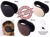 Unisex Ear Fleece Earmuffs Foldable Winter Accessory Earwarmers Outdoor Wind Out