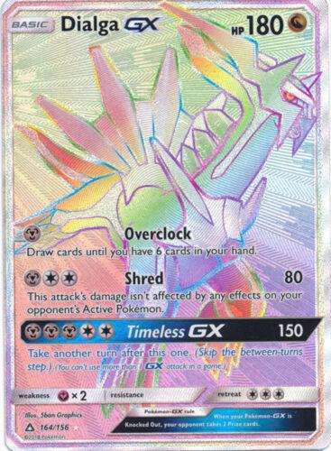 Secret Rare Ultra Prism Dialga GX 164//156 Secret Rare Card NM Pokemon SM