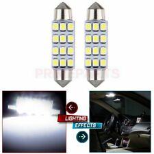 2x White Car 42MM Festoon Light Internal Blub Canbus Error Free 1 CREE LED I321