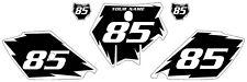 2003-2012 KTM 105 SX Custom Pre-Printed Black Backgrounds White Shock Series
