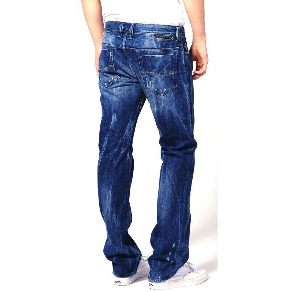 New Diesel Safado 8CO Regular Slim Straight Leg Distressed Wash Jeans 29 32
