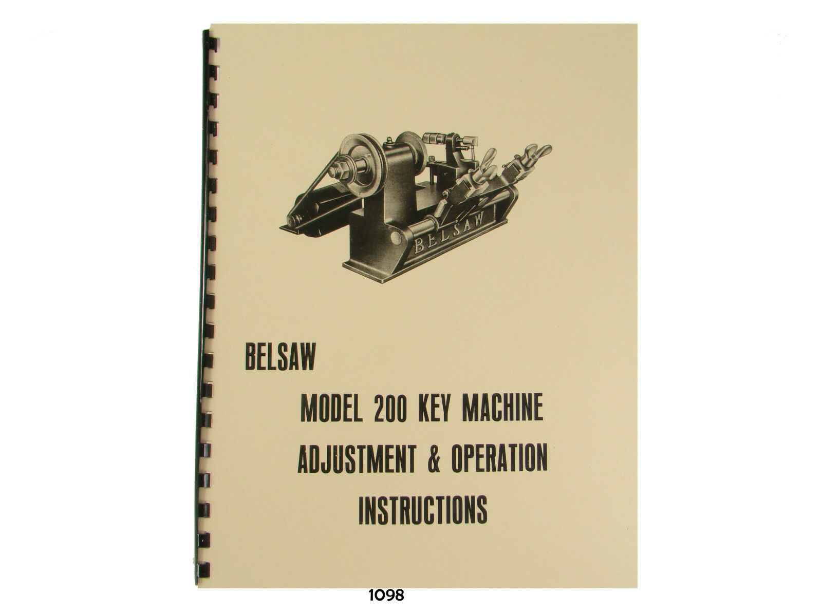 Foley Belsaw Model 200 Key Machine Adjustment and Operation Manual #1098