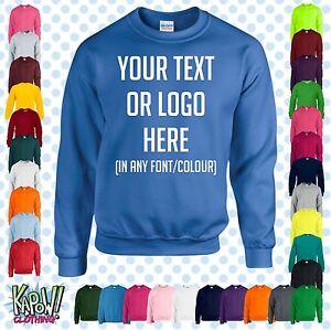 Personnalise-Personnalise-Bebe-Enfants-Sweat-shirt-Name-Drole-Cadeau-Yr-Texte-Logo-2